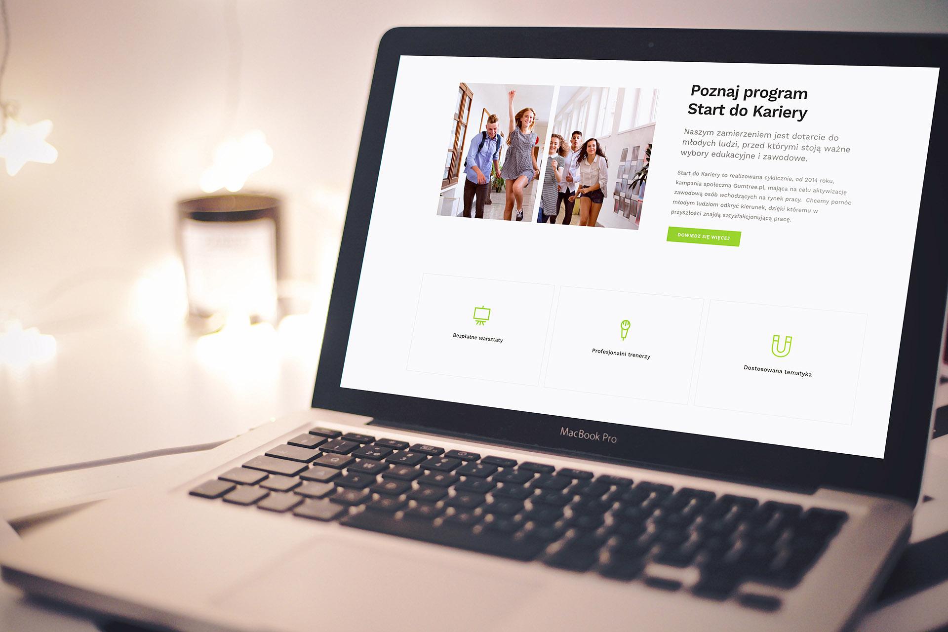 Gumtree Start do Kariery – strona www zaprojektowana przez Brave New